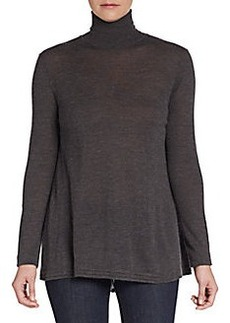 Elie Tahari Cashmere & Silk Turtleneck Sweater