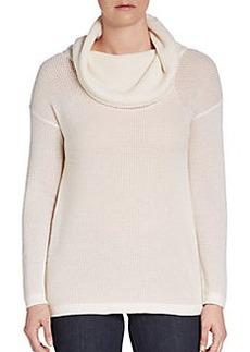 Elie Tahari Cashmere Open-Knit Cowlneck Sweater