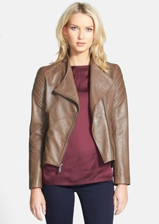 Elie Tahari 'Celeste' Asymmetrical Leather Moto Jacket