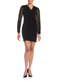 ELIE TAHARI Chain-Accented Shift Dress