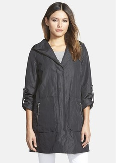 Elie Tahari 'Chastity' Front Zip Hooded Raincoat