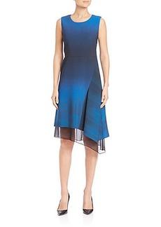 Elie Tahari Clarissa Asymmetrical Ombré Dress