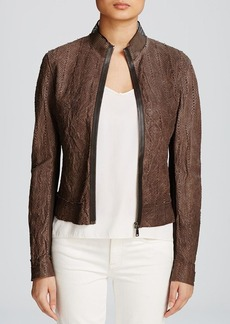Elie Tahari Cleary Leather Jacket