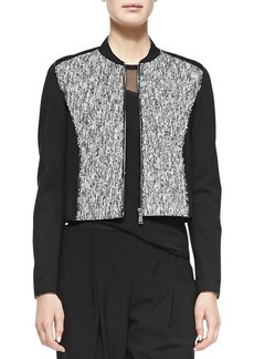 Elie Tahari Cleary Tweed Boxy Jacket
