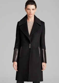 Elie Tahari Coat - Dawnson Leather Sleeve