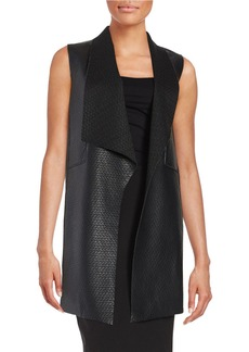 ELIE TAHARI Coated Textured Vest