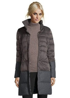 Elie Tahari concrete box quilted 'Chiara' fur trimmed hooded down jacket