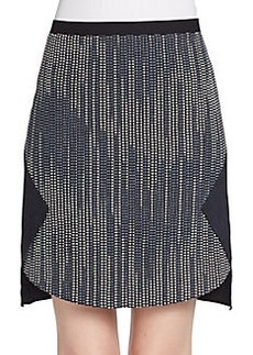Elie Tahari Courtney Tweed-Front Skirt