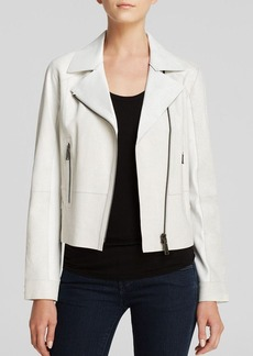 Elie Tahari Cracked Leather Roxie Jacket