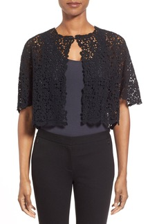 Elie Tahari Crop Lace Jacket