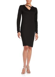 ELIE TAHARI Cutout Accented Shift Dress