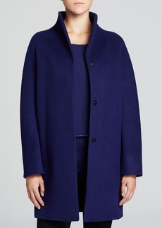 Elie Tahari Dalia Funnel Neck Coat