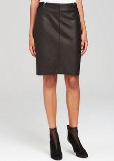 Elie Tahari Daniella Leather Mini Skirt - Bloomingdale's Exclusive