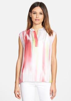 Elie Tahari 'Decklan' Print Sleeveless Silk Blouse
