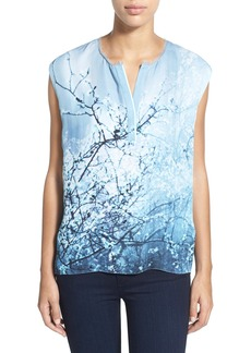 Elie Tahari 'Decklyn' Print Sleeveless Silk Georgette Blouse