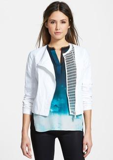 Elie Tahari 'Della' Mesh Detail Collarless Jacket