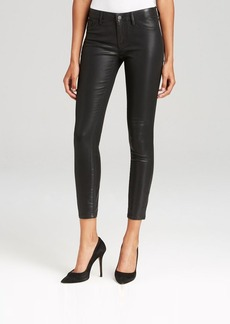 Elie Tahari Denim Bridgette Skinny Coated Jeans in Jet