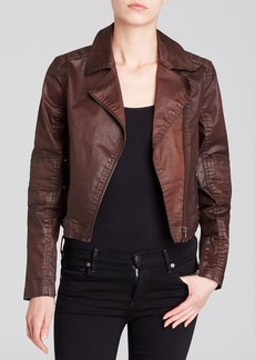 Elie Tahari Denim Joan Moto Jacket