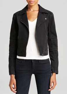 Elie Tahari Denim Joan Moto Jean Jacket