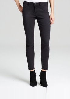 Elie Tahari Denim Lita Moto Jeans in Black