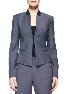 Elie Tahari Donilyn Jacket W/ Jersey Trim  Donilyn Jacket W/ Jersey Trim