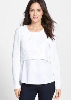 Elie Tahari 'Elenore' Layered Sweater