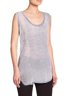 Elie Tahari Ellis Burnout Knit Top