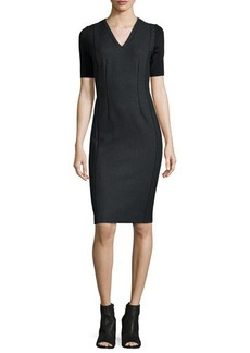 Elie Tahari Emmalyn Short-Sleeve Sheath Dress  Emmalyn Short-Sleeve Sheath Dress