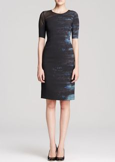 Elie Tahari Emory Mixed Media Dress