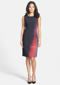 Elie Tahari 'Emory' Ombré Print Sheath Dress