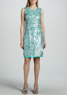 Elie Tahari Emory Sequined-Front Dress