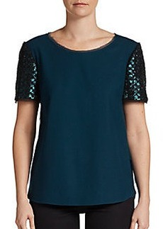 Elie Tahari Enza Sequined Blouse