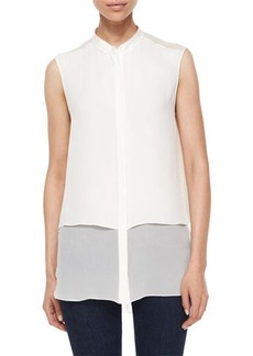 Elie Tahari Eve Pintuck-Detail Blouse