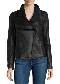 Elie Tahari Exclusive for Neiman Marcus Andreas Leather Moto Jacket, Black