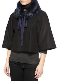 Elie Tahari Exclusive for Neiman Marcus Nadja Faux-Fur Swing Coat  Nadja Faux-Fur Swing Coat