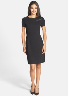Elie Tahari 'Fae' Mesh Inset Sheath Dress