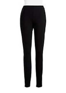ELIE TAHARI Faux Leather Trim Pants