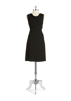 ELIE TAHARI Faux-Wrap Dress