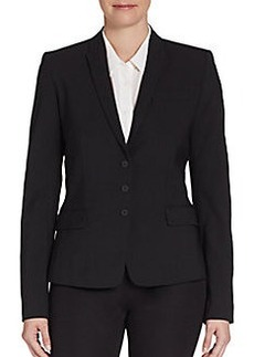 Elie Tahari Fitted Stretch Wool Blazer