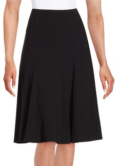 ELIE TAHARI Flared Crepe Skirt