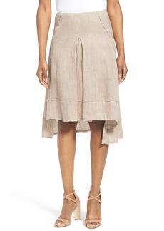 Elie Tahari 'Florence' High/Low Linen Skirt