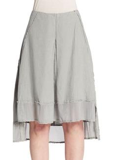 Elie Tahari Florence Mesh-Trimmed Linen Skirt