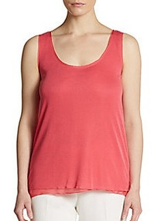 Elie Tahari Follia Silk-Trim Tank