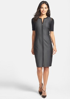 Elie Tahari 'Frankie' Mixed Media Sheath Dress