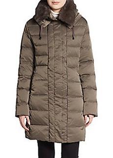 Elie Tahari Fur-Collar Puffer Coat