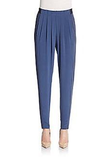 Elie Tahari Gemma Silk-Blend Trousers