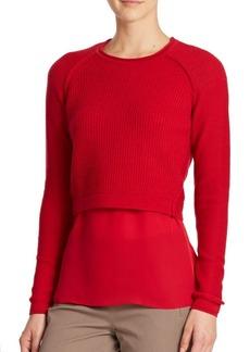 Elie Tahari Giada Sweater & Blouse Set