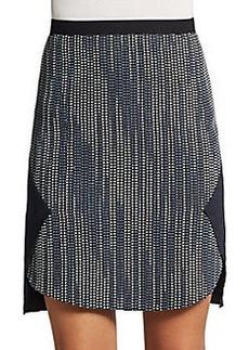 Elie Tahari Gina Zip-Front Tweed Jacket