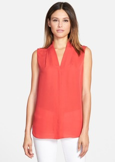Elie Tahari 'Ginny' Sleeveless Silk Georgette Blouse