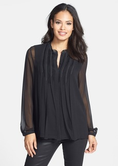 Elie Tahari 'Gracie' Embellished Silk Blouse